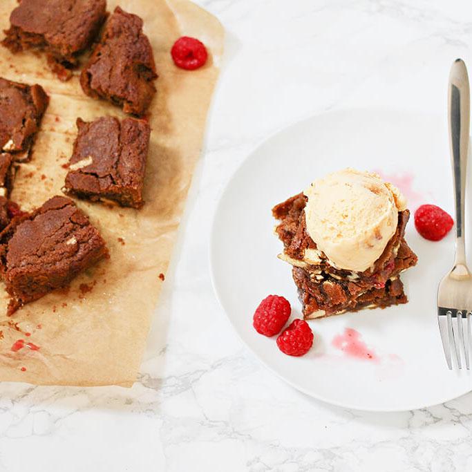 Brownie glacé